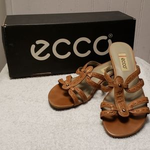 Ecco Singapore Slide Sandals, brown leather, 7